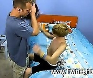 Gay orgy Daddy McKline works his puffies while Kyler gets down and